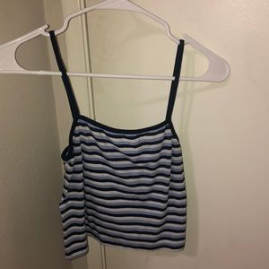 Brandy striped crop top